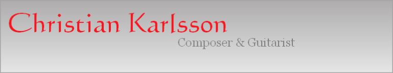 christian karlsson guitar teacher composer and guitarist